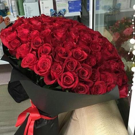"""101 роза """"Каприз"""""""